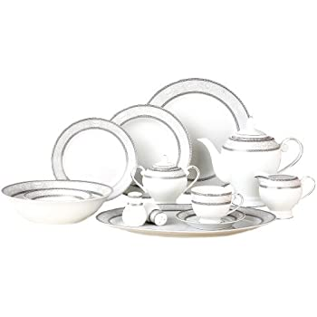 Lorenzo Sirena 57-Piece Dinnerware Set Service for 8  sc 1 st  Amazon.com & Amazon.com: Lorenzo Sirena 57-Piece Dinnerware Set Service for 8 ...