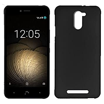 Movixoz - Funda Trasera TPU Mate Lisa para BQ Aquaris U Plus Silicona Flexible Negro