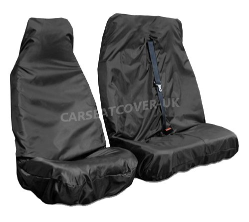 Double - Single Universal Fit Carseatcover-UK/® Heavy Duty Extra Rugged Black Waterproof Van Seat Covers