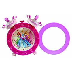 Disney Princess Crown Time Teaching Alarm Clock, Pink