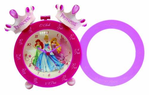 Disney Princess Alarm Clock (Disney Princess Crown Time Teaching Alarm Clock, Pink)