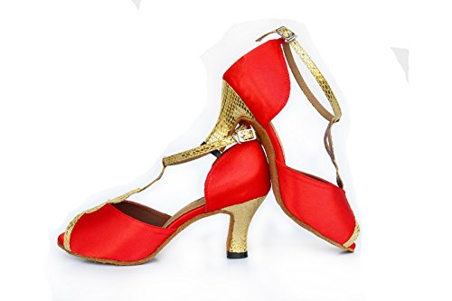 Da Chalumba Da Scamosciata Confortevoli Red Ballo Ballo Chia Scarpe Onorevoli Scarpe Latino 8cm Traspirante AvIqqwn8