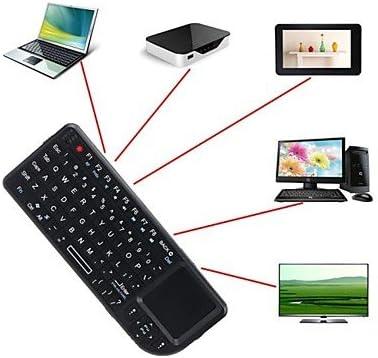 A8 Mini 2,4 gHz inalámbrico teclado Touchpad-ratón-luz de fondo para PC Smart TV Samsung: Amazon.es: Informática