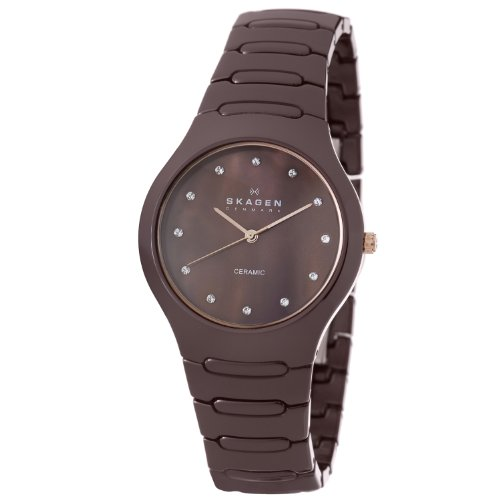 Skagen Women's 817SDXCR Ceramic Brown Ceramic Watch