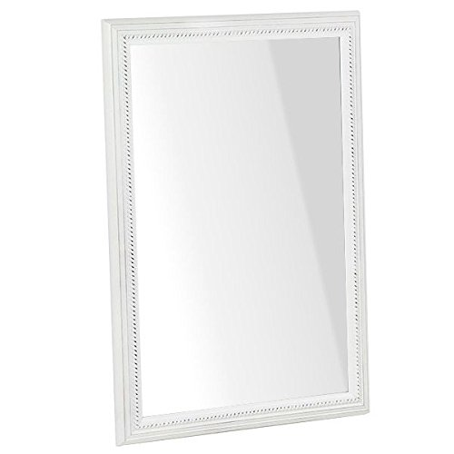 arne ウォールミラー 壁掛け 鏡 姿見 アンティーク 玄関 リビング スリム F-007WM4570 ホワイト B00U22VJISホワイト