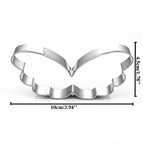Heart Metal Cookie Cutter Angel Wing Cake Decorating Tool Patisserie Gateau Biscuit Mold Pastry Bakeware Love Fondant Cutter