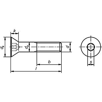 Innensechskant M 6 x 120 ISO 10642 Senkschraube 8.8 galvanisch verzinkt