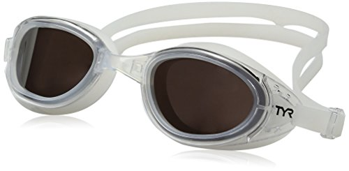 TYR  Special OPS 2.0 Polarized Goggles, Silver/Clear, One - Goggles Swim Water Open