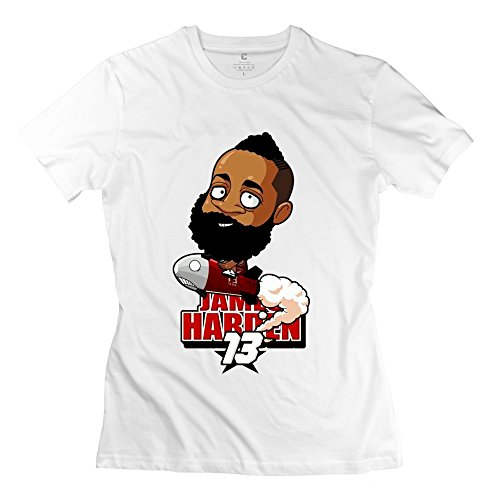 AOPO Cartoon James Harden Tee Shirts For Women Medium