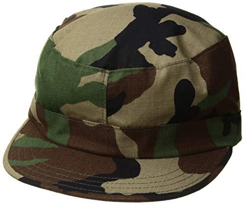 (Propper Men's Bdu Patrol Cap - 100% Cotton, Woodland, Medium)