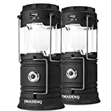 2 Pack Solar Lantern Flashlights Charging for