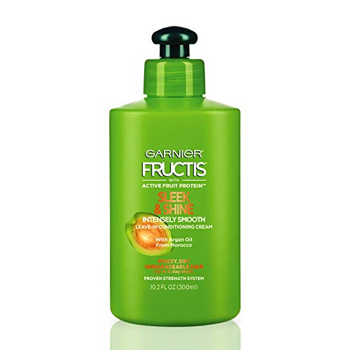 Garnier Fructis Sleek & Shine Intensely Smooth Leave-In Conditioning Cream, 10.2 Ounce (Garnier Fructis Leave)