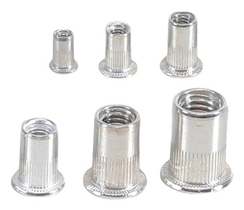 BGS 14127 remachadora de tuercas Surtido, aluminio, 150 piezas) 150piezas)