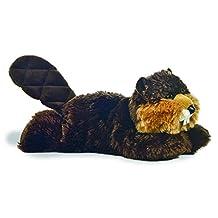 "Builder Beaver 8"" Mini Flopsie Stuffed Animal"