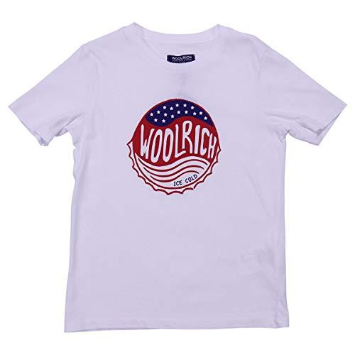 Mod Woolrich Wktee1224892b Jersey Bianca shirt Boy T Di In Cotone nBw7faq8Bx