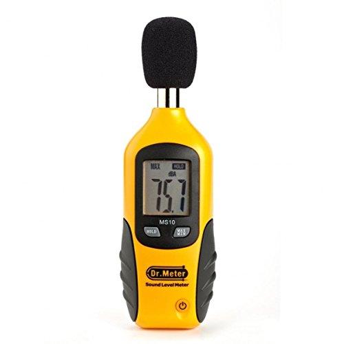 Dr. Meter® MS10Tester Meter Sound Level Decibel [Digital Sound Level Meter 30dBA–130dBA 9V Battery Included] Spare–30Days Money Back Guarantee, 12Months