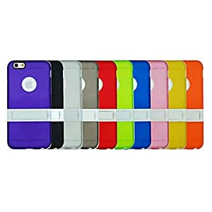 SHOUJIKE TPU+PC Two in One Combo Built-in Kickstand Back Cover Case for iPhone 6 (Assorted Colors) , White