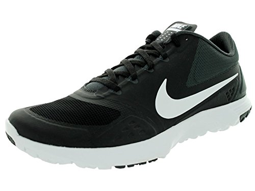 Nike FS Lite Trainer II Men Round Toe Synthetic Blue Running Shoe, Black/White/Antracite, 45.5 D(M) EU/10.5 D(M) UK