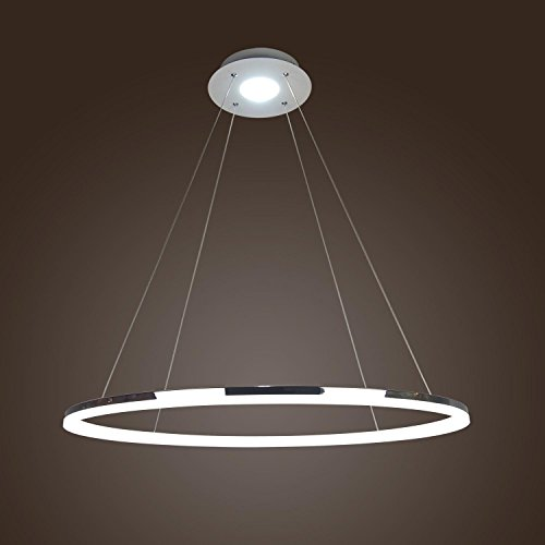 Ring Pendant Light - LightInTheBox Modern Simple Design Mini Pendant Living LED Ring Chandelier Ceiling Light for Garage, Game Room, Study Room/Office, Dining Room, Bedroom, Living Room