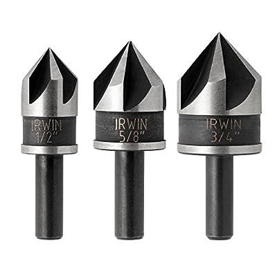 Irwin Tools 1877720 Countersink Drill Bit, Black Oxide, 3-Piece