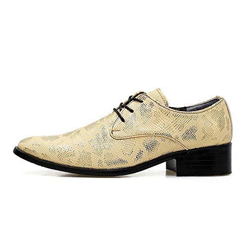 Morbida Snake Scarpe Confortevole Business Skin Gold Casual Cricket Comode Da Fashion E Punta Uomo Con Oxford 1SX0P