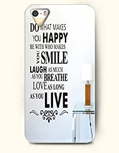 iPhone 6 plus 5.5 Case OOFIT Phone Hard Case ** NEW ** Case with Design Do What Makes You Happy Be With Who Makes You Smile Laugh As Much As You Breathe Love As Long As You Live- Proverbs Of Life - Case for Apple iPhone 6 plus 5.5