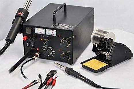 GOWE 220 V sistema de reparación soldador estación de reparación pistola de calor: Amazon.es: Bricolaje y herramientas