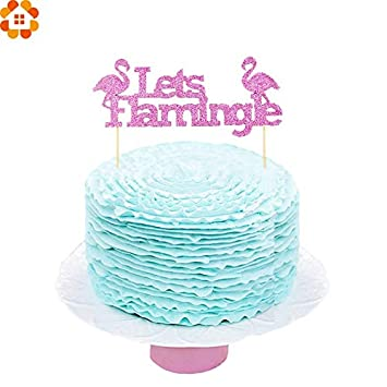 wedding cupcakes decorations cake decors birthday 2pcs pink flamingo cake toppers letter cakes topper picks cake