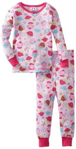 Gerber Baby Girls' Gerber 2 Piece Cupcake Shop Pajama