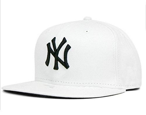 bfda73c6235 Tx Adjustable Unisex New York Yankees Cap Snapback Sport Flat Brim Hip-hop  Hat (White) - Buy Online in Oman.
