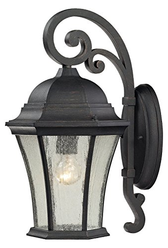 Wellington Park 1 Light Outdoor Sconce in Weathered Charcoal ()