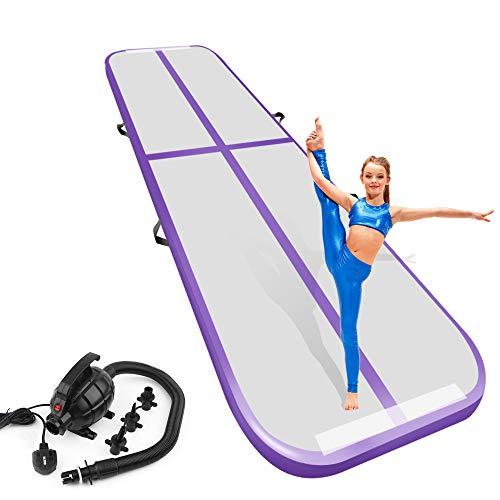 Air Track Gymnastics Tumbling Mat Inflatable Gymnastics Airtrack Floor Mats for Home use Cheer Training Tumbling Cheerleading Beach Park Water