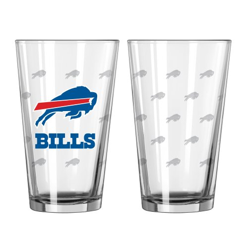 tin Etch Pint, 16-ounce, 2-Pack (Buffalo Bills Glass)