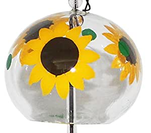 Japanese Handmade Wind Chime with Sunflowers