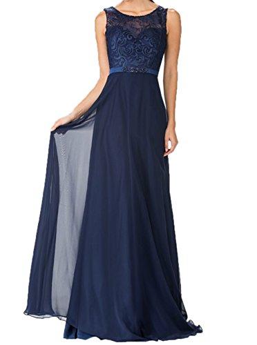 Charmant Blau Abendkleider Dunkel Elegant Neu Navy Brautmutterkleider Partykleider Promkleider Spitze Schwarz Langes Damen BwrAUZqB