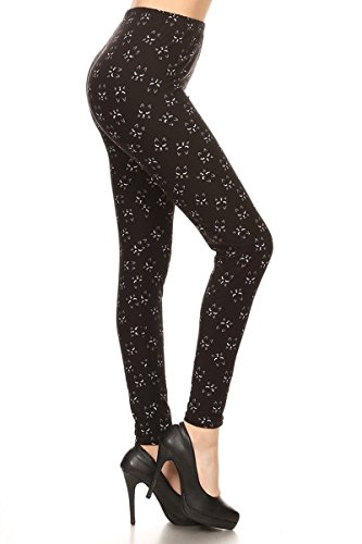Leggings Depot Women's Ultra Soft Popular Best Printed Fashion Leggings BAT3 (Plus Size (Size 12-24), Long Lash Cat)