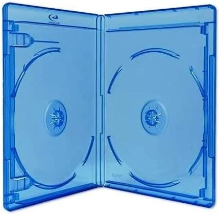 New 2 Pk Viva Elite Blu-Ray Double Case Box 12.5 mm Standard Size Hold 2 Discs Pack of 2 Pcs