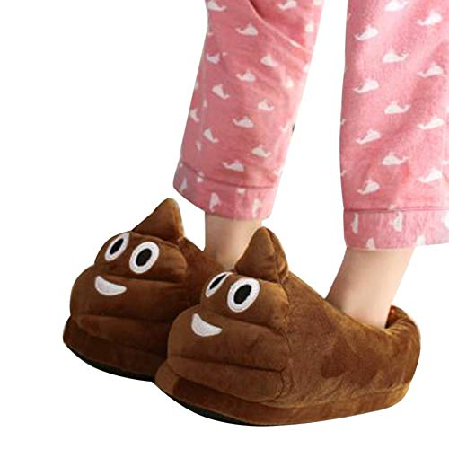 Emoji Slippers Poop Plush Cotton Slipper, Anti-Slip Indoor Warm Cute Winter Shoes, Unisex for Kids and Women by Flying horse
