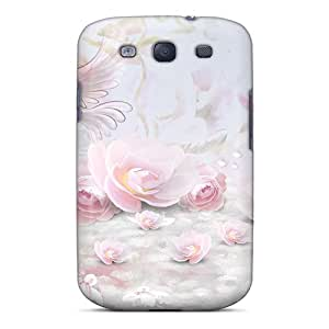 New Premium VYhPw49622HyWss Case Cover For Galaxy S3/ Pink Roses Doves Protective Case Cover