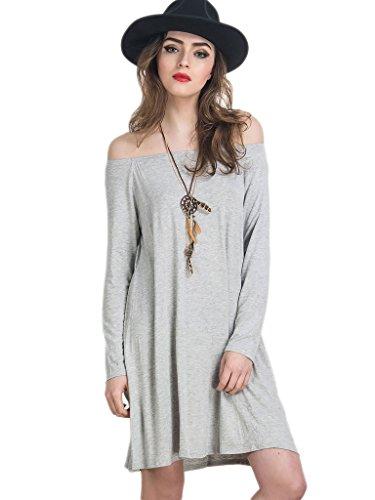 Persun Womens Shoulder Sleeve Ruffle