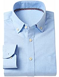 Generic Men's Casual Long Sleeve Oxford Dress Shirt