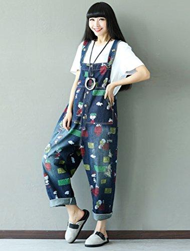 fiori Jeans Donna Pantaloni 5 A Salopette Stile Vogstyle Donna 6YqxSZ5