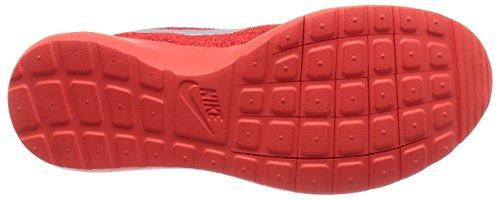 Nike Mens Roshe Nm Flyknit Se Loopschoen Helder Karmozijnrood / Wit-universiteit Rood
