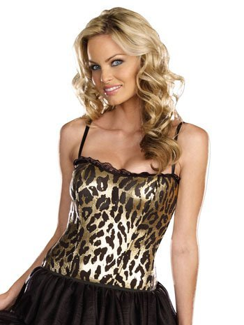Leopard Bustier (Dream Girl 7775 LEOPARD CORSET color:COSTUME size:XL)