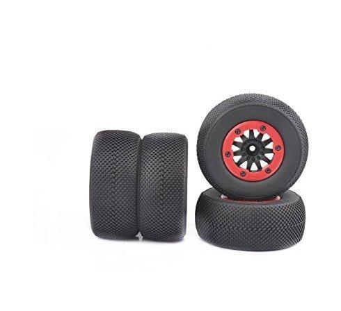 Ruixunte Short Course Truck Tires&Wheel Rim Fit HPI 1:10 TRAXXAS Slash RC Car