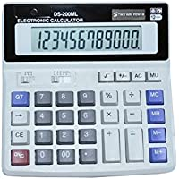 Business Standard Function Desktop Calculator, Handheld for Daily and Basic Office, Dual Power With Large LCD Display