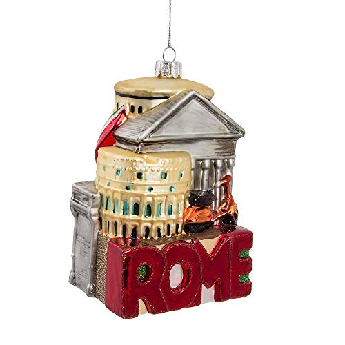 (Kurt Adler 5-Inch Glass Rome Cityscape Ornament)