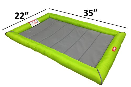 Coleman Thick Cushion Dog Travel Bed for Standard Size Kennels, Green, Size Medium / 35\