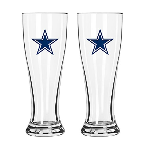 NFL Dallas Cowboys Game Day Pilsner, 16-ounce, 2-Pack - Glass Pilsner Game