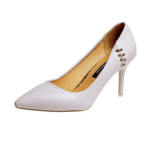 Zapatos Moda Beige Boca Alto zapatos Mujer alto Baja Tacón De Dulce Salvaje Zapatos de Yukun De Acentuados tacón UwCnR